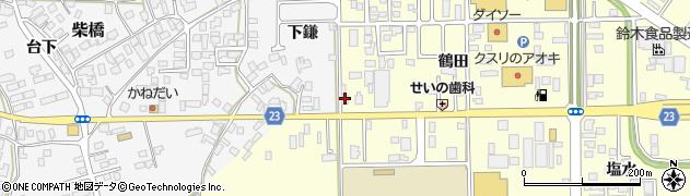 山形県寒河江市寒河江鶴田1周辺の地図