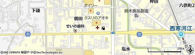 山形県寒河江市寒河江鶴田15周辺の地図