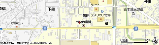 山形県寒河江市寒河江鶴田8周辺の地図