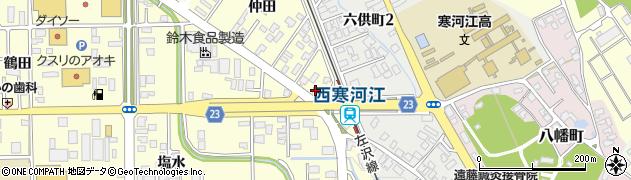 山形県寒河江市寒河江仲田36周辺の地図