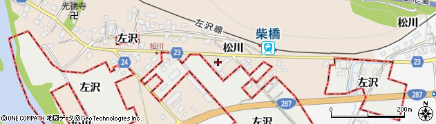 山形県寒河江市松川188周辺の地図