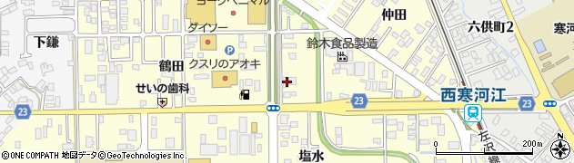 山形県寒河江市寒河江鶴田20周辺の地図