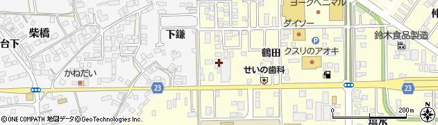 山形県寒河江市寒河江鶴田2周辺の地図