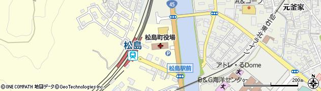 宮城県宮城郡松島町周辺の地図