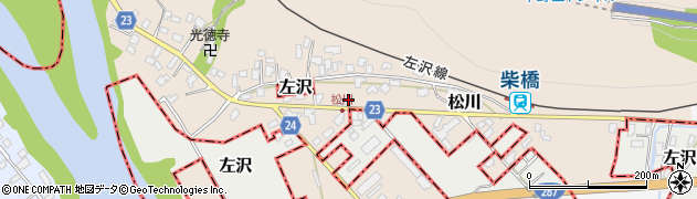 山形県寒河江市松川122周辺の地図