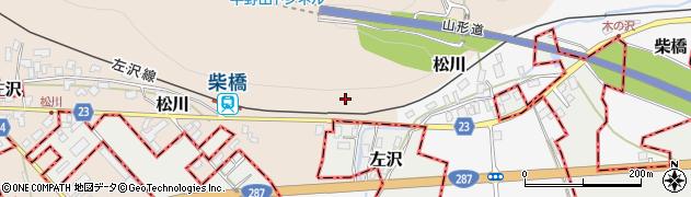 山形県寒河江市松川鏡山周辺の地図