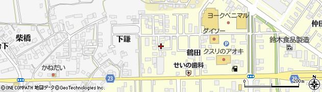 山形県寒河江市寒河江鶴田38周辺の地図