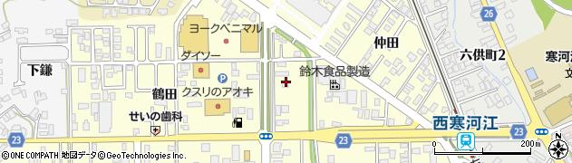山形県寒河江市寒河江鶴田25周辺の地図