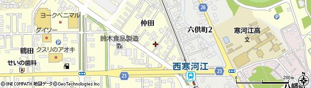 山形県寒河江市寒河江仲田29周辺の地図