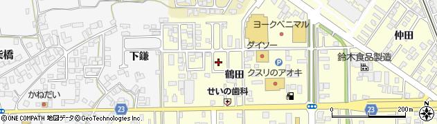 山形県寒河江市寒河江鶴田37周辺の地図