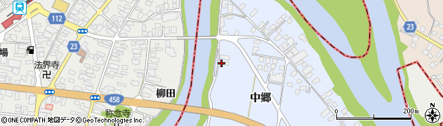 山形県寒河江市中郷1727周辺の地図