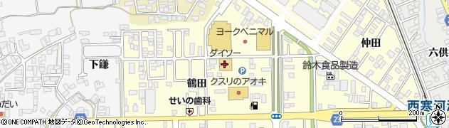 山形県寒河江市寒河江鶴田31周辺の地図