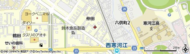 山形県寒河江市寒河江仲田28周辺の地図