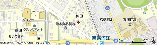山形県寒河江市寒河江仲田24周辺の地図