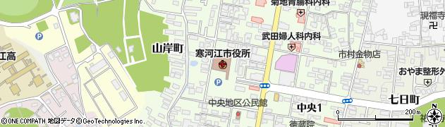 山形県寒河江市周辺の地図