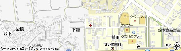 山形県寒河江市寒河江鶴田42周辺の地図