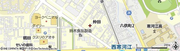 山形県寒河江市寒河江仲田22周辺の地図