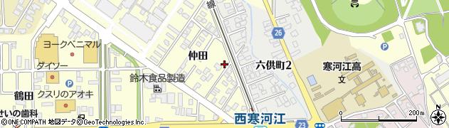 山形県寒河江市寒河江仲田53周辺の地図