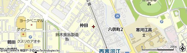 山形県寒河江市寒河江仲田54周辺の地図
