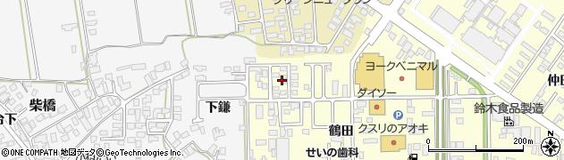 山形県寒河江市寒河江鶴田44周辺の地図