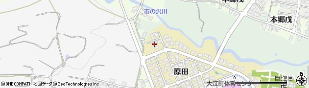山形県西村山郡大江町原田1周辺の地図