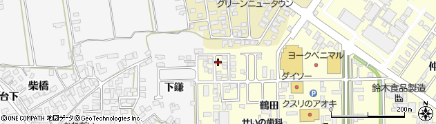 山形県寒河江市寒河江鶴田43周辺の地図