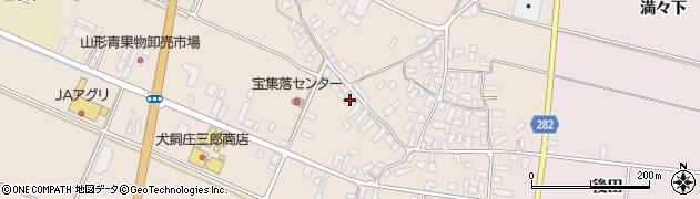 山形県寒河江市西根高畑周辺の地図