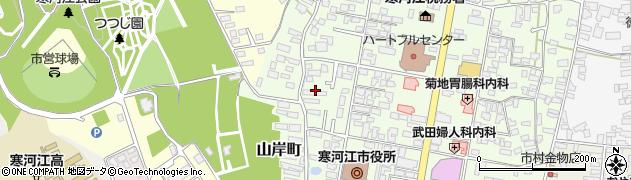 山形県寒河江市山岸町8周辺の地図