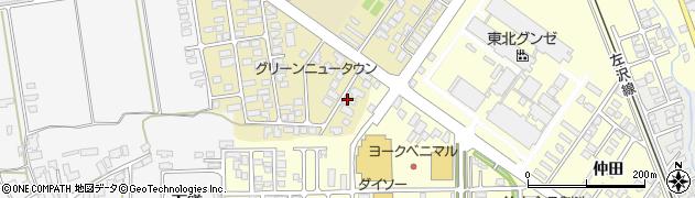 山形県寒河江市緑町133周辺の地図