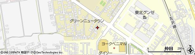 山形県寒河江市緑町132周辺の地図
