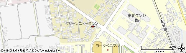 山形県寒河江市緑町130周辺の地図