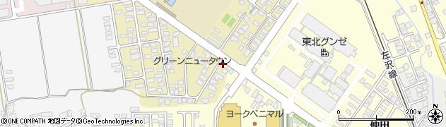 山形県寒河江市緑町129周辺の地図