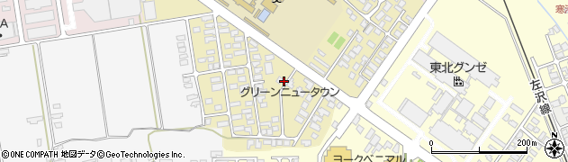 山形県寒河江市緑町110周辺の地図