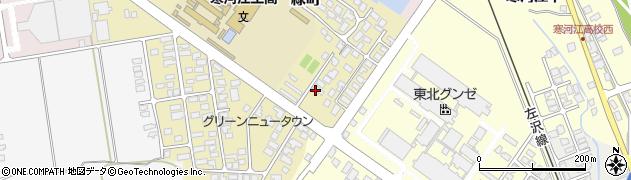 山形県寒河江市緑町153周辺の地図