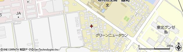 山形県寒河江市緑町52周辺の地図
