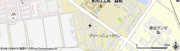 山形県寒河江市緑町72周辺の地図