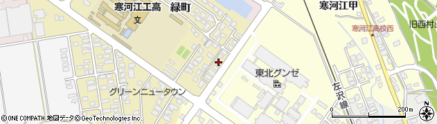 山形県寒河江市緑町168周辺の地図