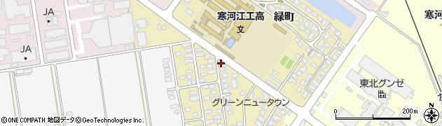 山形県寒河江市緑町83周辺の地図