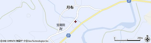 山形県西村山郡大江町月布654周辺の地図