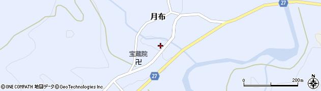山形県西村山郡大江町月布214周辺の地図