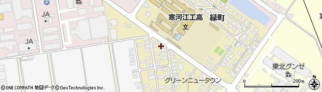 山形県寒河江市緑町68周辺の地図