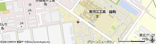 山形県寒河江市緑町37周辺の地図