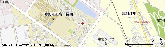 山形県寒河江市緑町201周辺の地図