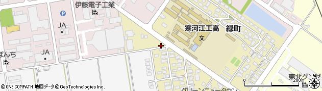 山形県寒河江市緑町35周辺の地図