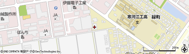 山形県寒河江市緑町4周辺の地図