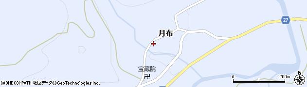 山形県西村山郡大江町月布月布周辺の地図