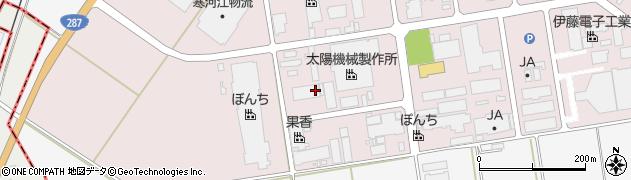 山形県寒河江市中央工業団地11周辺の地図