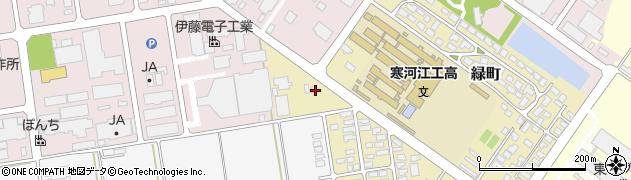 山形県寒河江市緑町23周辺の地図