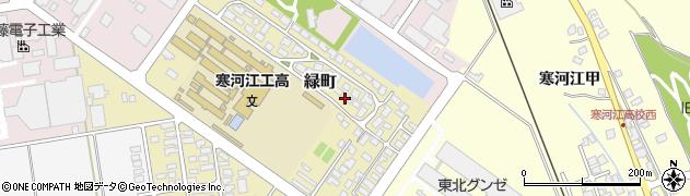 山形県寒河江市緑町200-44周辺の地図