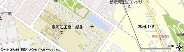 山形県寒河江市緑町200-15周辺の地図
